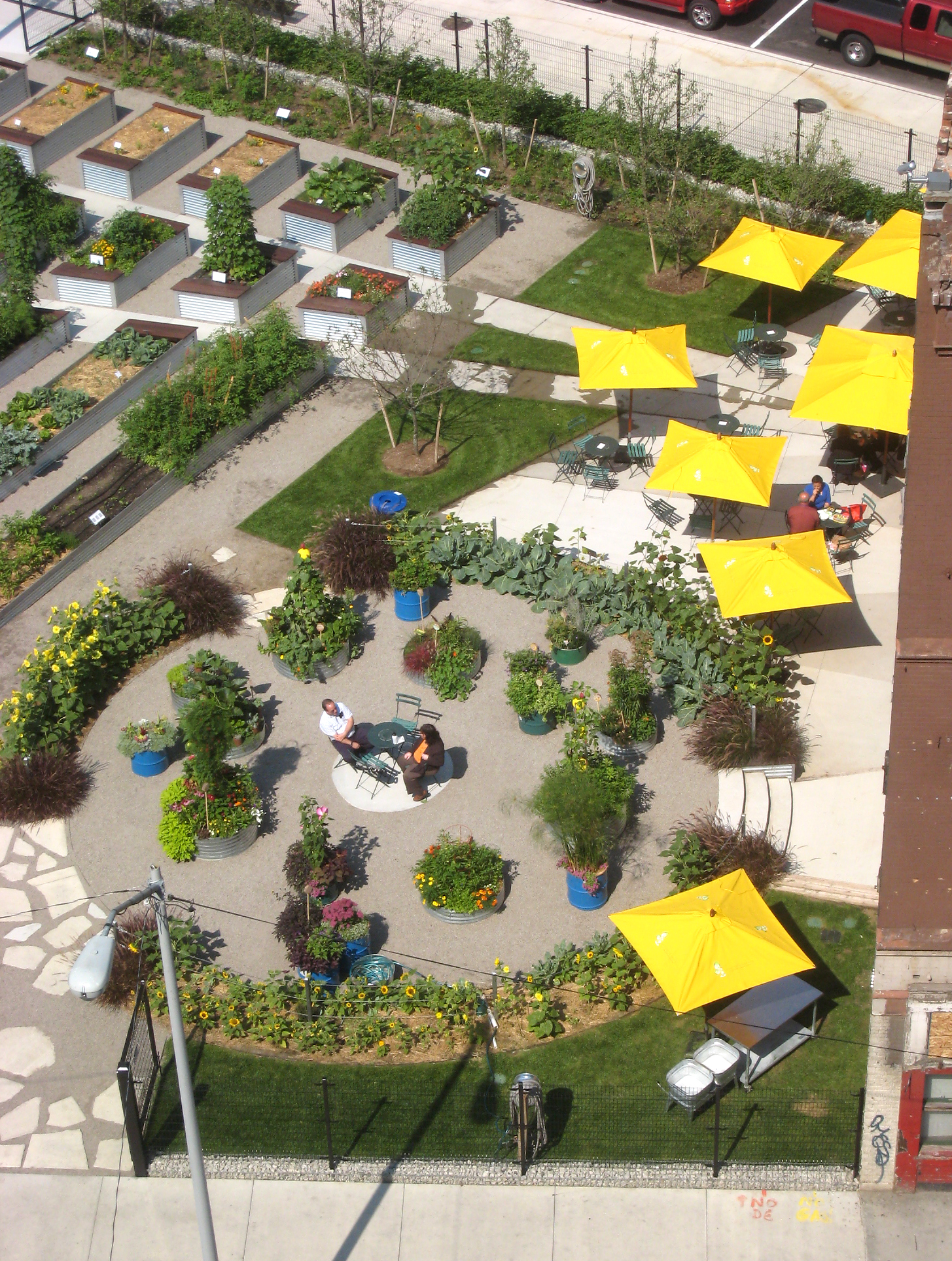 Lafayette greens an urban garden for Urban landscape design